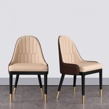 Luxury leather dining chairs