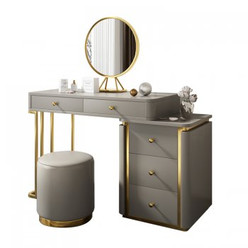 Modern dressing table with mirror and